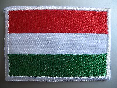 Hungarian Flag Small Iron On / Sew On Patch Badge HUNGARY Magyarország zászlaja