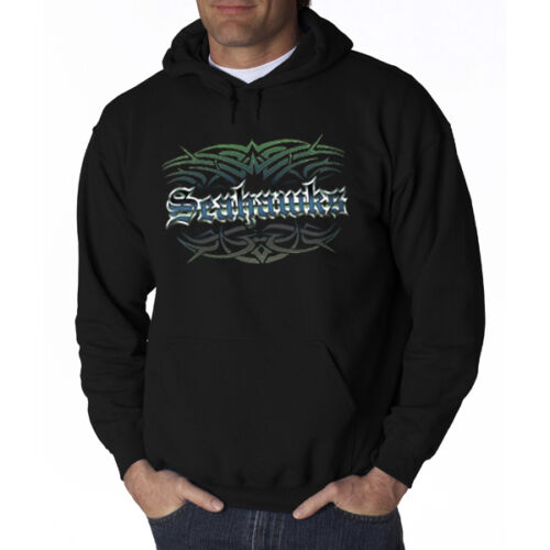 Seahawks Tattoo Tribal Hoodie Hooded Sweatshirt Seattle S M L XL 2X 3X 4X 5X