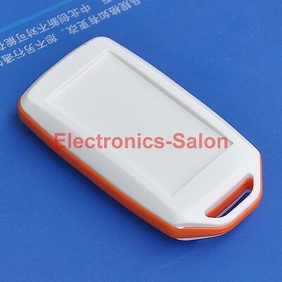 HQ Hand-Held Project Enclosure Box Case, White-Orange, 72 x 39 x 15mm.