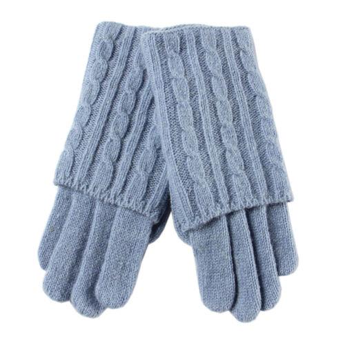 Fashionable ladies' wool opera gloves w/folded cuff Z005Z