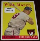1958 Topps Walt Moryn Chicago Cubs #122 Baseball Card