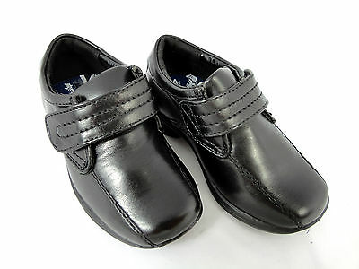 Boys Black Shoe Formal Wedding Smart Casual School Shoes Infant Touch Fastening