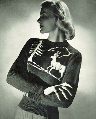 How To Knit Christmas Jumpers Retro Reindeerssnowflakes Trees Etc