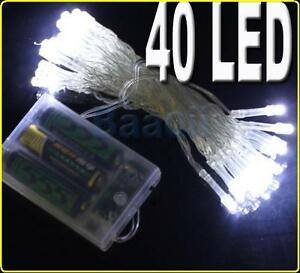 AA-Battery-40-LED-White-Light-String-Fairy-Party-Wedding-Outdoor-Yard-DECOR