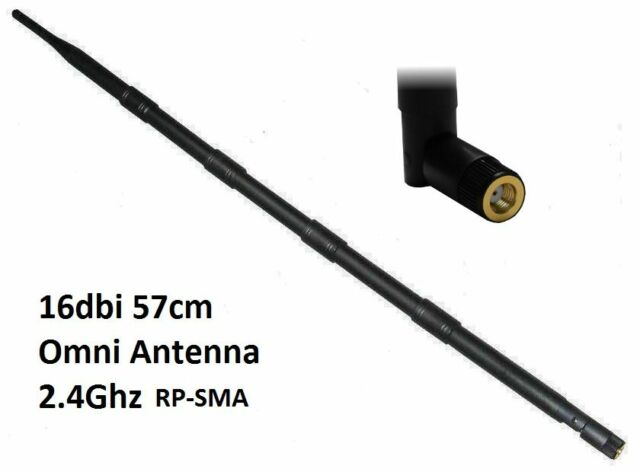 2.4GHz 16dBi Router Network WLAN Antenna Wifi Aerial RP-SMA omni signal booster