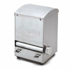Toothpick dispenser stainless steel roll style alegacy altd5 new ebay - Stainless steel toothpick dispenser ...