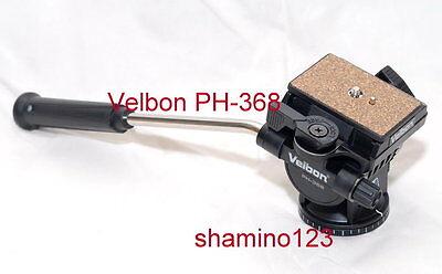 Genuine New Velbon PH-368 Fluid Pan Tilt Head for Video cam /w tracking number