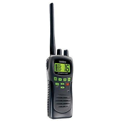 Uniden Atlantis 250 VHF Handheld Waterproof Boat Marine Radio