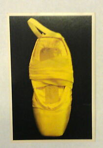 vintage yellow pointe shoe of marianna tcherkassky