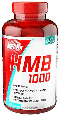Met-Rx HMB 1000 mg 90 caps -BCAA amino acid Build Muscle Recovery unisex