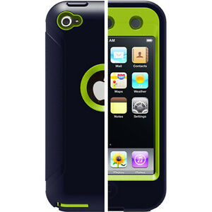 New-Otterbox-Defender-3-Layer-Case-w-Screen-Covered-for-iPod-Touch-4G-Green-blk