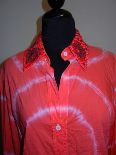 CAKE COUTURE Blouse Top PINK Beaded NWT $650 Sz L