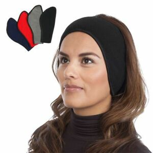 Winter-Fleece-Headband-One-Size-Velcro-Wrap-Ear-Cover-Soft-Warm-Assorted-Color