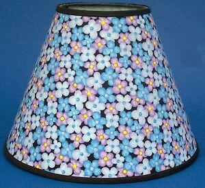 shades of blue flower lampshade flowers handmade lamp. Black Bedroom Furniture Sets. Home Design Ideas