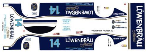 #14 LOWENBRAU Porsche 962 1986 1/32nd Scale Slot Car Waterslide Decals