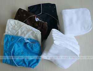 Lot-Baby-Cloth-Diapers-Cover-High-Quility-Infant-Nappy-with-Liner-Insert-U-pick