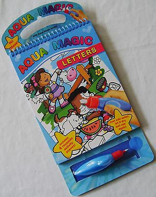 NEW AQUA MAGIC PAD REUSABLE COLOURING BOOK - USE ONLY WATER! FUN!!! LETTERS