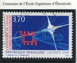 TIMBRE-FRANCE-OBLITERE-N-2937-ECOLE-ELECTRICITE-Photo-non-contractuelle