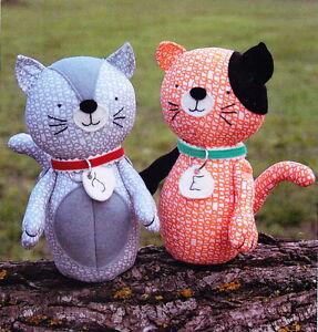 PATTERN-Jude-amp-Eloise-cute-softie-toy-cat-PATTERN-2-designs-RicRac