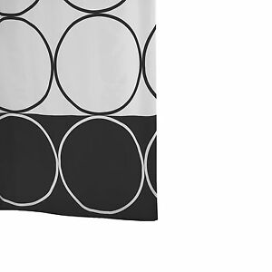 RIDDER Duschvorhang Textil 180 x 200 cm Circle schwarz - sehr edel, neu
