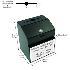 losbox einwurfbox leadbox suggestion box steel mit schloss kummerkasten ebay. Black Bedroom Furniture Sets. Home Design Ideas