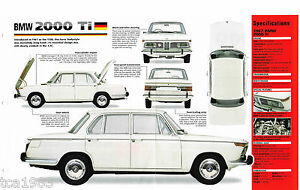 BMW 2000 Ti IMP Brochure: 1966,1967,1968,