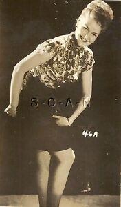 Org Vintage 1940s-60s Risque Pinup RP- Skirt Revels Garter