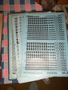 i-NOS-Letraset-Lettering-10-x-15-Sheet-Various-Symbols-Use-Drop-Down-Box