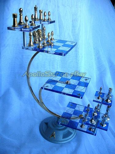 Franklin Mint Star Trek 3D Chess Set, Used