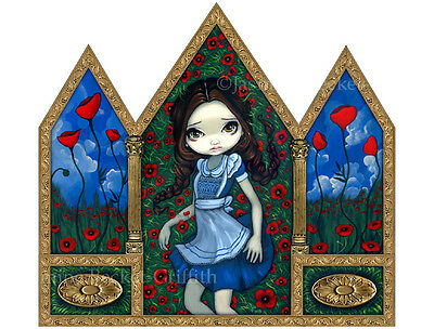 Jasmine Becket-Griffith art print SIGNED Dorothy in the Poppies wizard of oz pop