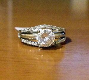 image is loading 14k yellow gold solitaire enhancer diamonds ring guard - Wedding Ring Enhancer