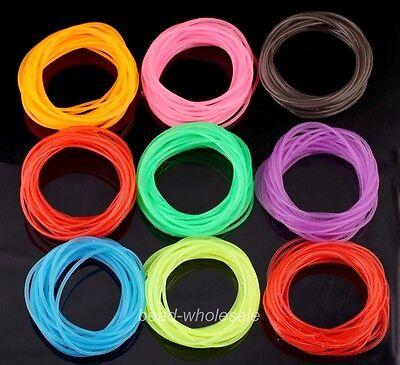 50pcs lot luminous brands bracelet shag rubber fluorescence candy color Bangle