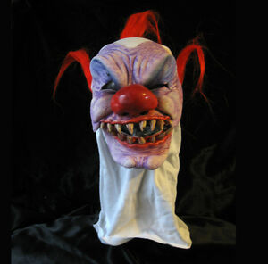 Details about Clown Bloody Evil Syco Killer Scary Funny Pranks Joke  Halloween Mask