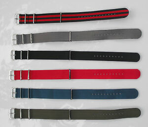 18,20,or 22mm Nylon Military style Watch Strap Band