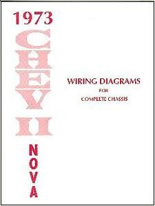 1973 73 NOVA/CHEVY II WIRING DIAGRAM MANUAL | eBay