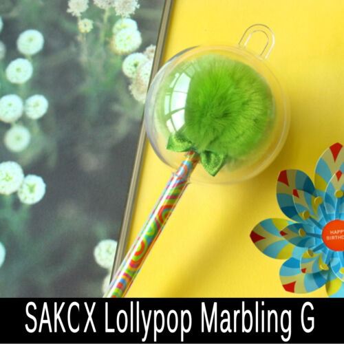 Sakox Long Marbling Lollipop Ballpoint Pen Fancy Beauty Fashion Stationery