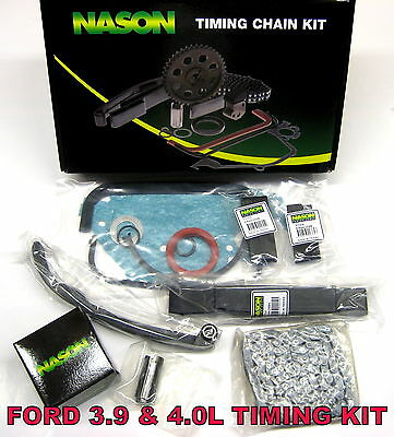 Ford Falcon EA EB ED EF EL AU Timing Chain Kit with guides, front seal, gaskets