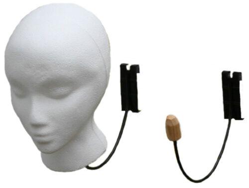Metal head holder display fixture hook retail store wig hat pegboard or gridwork