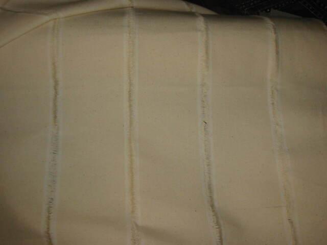 tissu en toile coton ecru  rideaux ameublement en 150 cm de large  au mètre