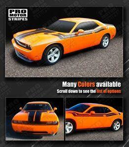 Dodge challenger hood fender side dual stripes 2011 for Ebay motors dodge challenger