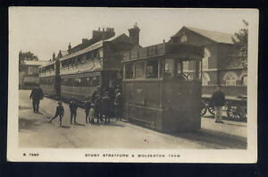 Bucks-STONY-STRATFORD-WOLVERTON-Steam-tram-RP-PPC