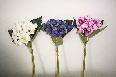 Artificial silk flowers & plants Hydrangea stem small bloom F59SB