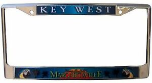 jimmy buffett margaritaville logo license plate frame palm