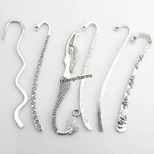 12pcs-Hot-Mixed-Antique-Silver-Charms-Bookmarks-For-Beading-Jewelry-Findings-LC