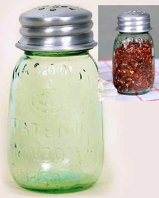 Best Mason CFJ Patent 1858 Jar Red Pepper, Parmesan Cheese, Pizza Spice Shaker