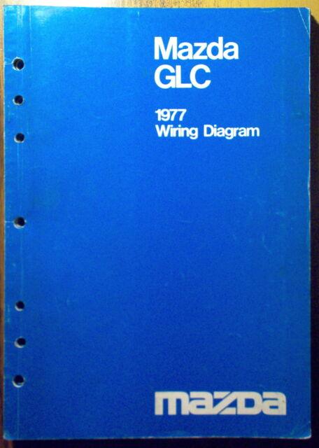 1977 Mazda Glc Wiring Diagram Service Shop Manual 77 Oem