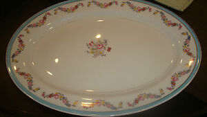 ANTIQUE-JACKSON-FEATHERWEIGHT-CHINA-OVAL-15-x-11-FLORAL-PLATTER