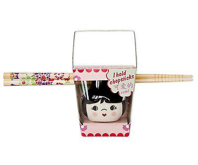 Talisman Designs Cutie Pie Chopstick Holder / Rest - Black