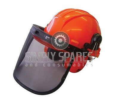 Chainsaw Safety Forestry Helmet + Ear Muffs + Mesh Visor Suits Husqvarna Users