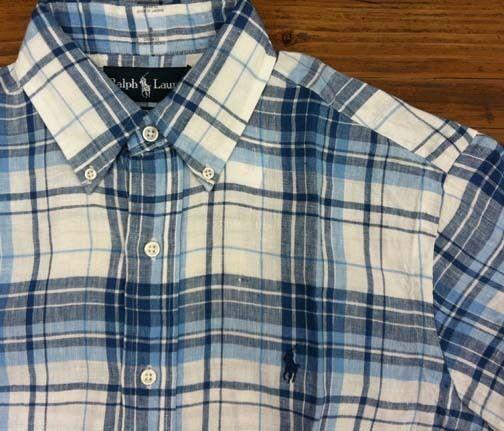 Uomo Polo Ralph Lauren Short Short Lauren Sleeve Classic Fit Buttondown Linen Shirt S M L XL 861880